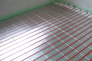 floor heating installed