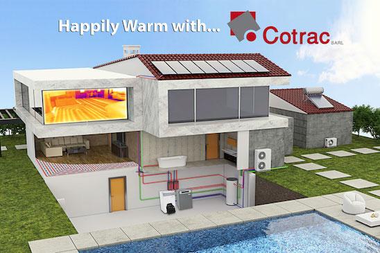 warm with cotrac floor heating